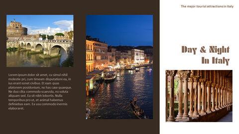 이탈리아의 주요 관광 명소 테마 PPT 템플릿_12