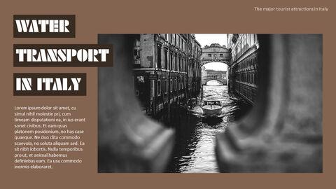 이탈리아의 주요 관광 명소 테마 PPT 템플릿_13