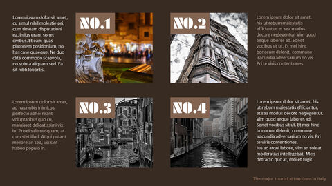 The Major Tourist Attractions In Italy Theme PPT Templates_05