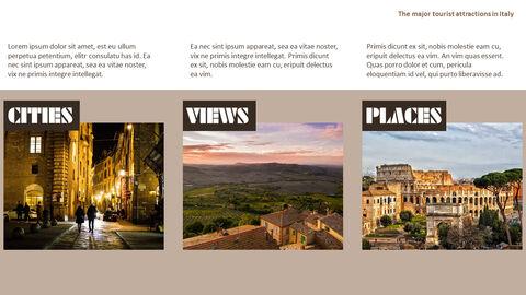 이탈리아의 주요 관광 명소 테마 PPT 템플릿_29