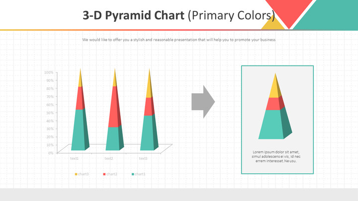3-D Pyramid Chart (Primary Colors)_01
