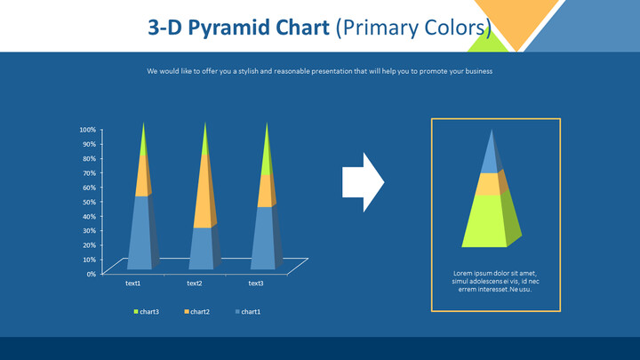 3-D Pyramid Chart (Primary Colors)_02