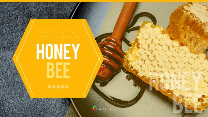 허니비(꿀벌) 간단한 디자인 템플릿_01