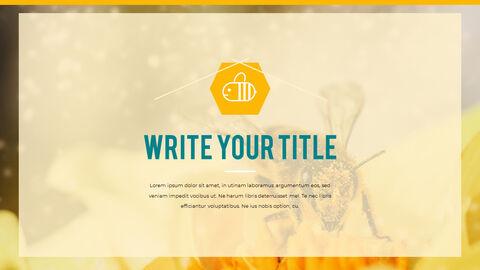 허니비(꿀벌) 간단한 디자인 템플릿_03