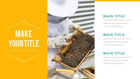 허니비(꿀벌) 간단한 디자인 템플릿_10
