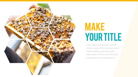 허니비(꿀벌) 간단한 디자인 템플릿_16