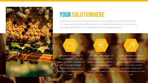 허니비(꿀벌) 간단한 디자인 템플릿_31