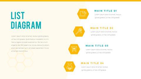 허니비(꿀벌) 간단한 디자인 템플릿_36