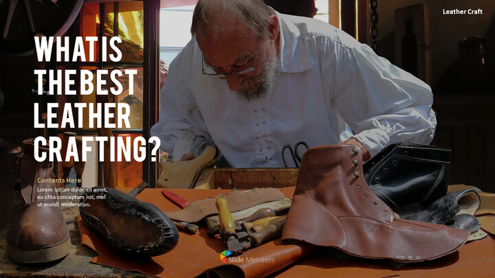 What Is The Best Leather Crafting Outline PPT Presentation_01