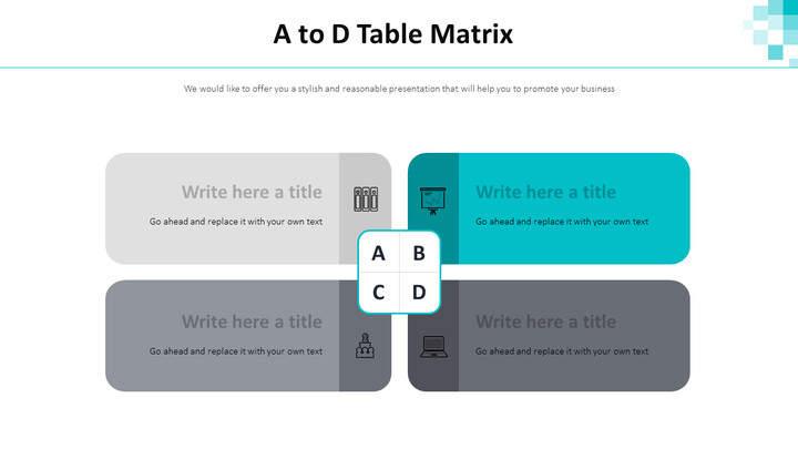 A to D Table Matrix Diagram_01