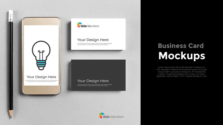 Business Card Mockups Modern PPT Templates_01