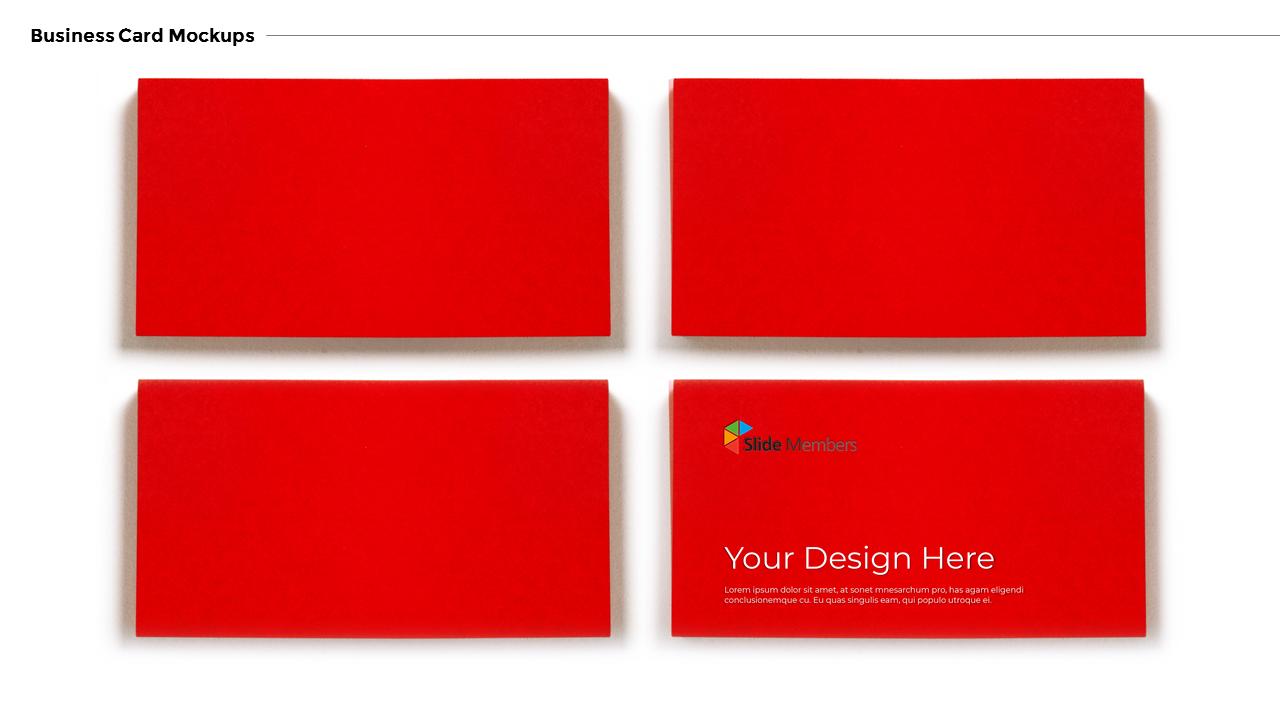 Business Card Mockups Modern Ppt Templates