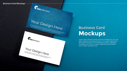 Business Card Mockups Modern PPT Templates_03