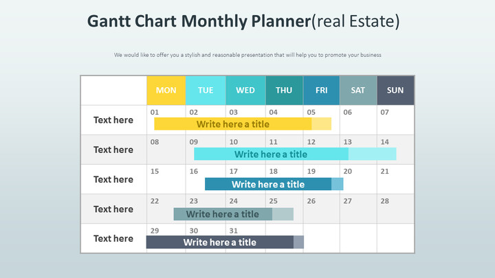 Gantt Chart Monthly Planner Diagram (Real Estate)_01