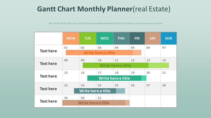Gantt Chart Monthly Planner Diagram (Real Estate)_02
