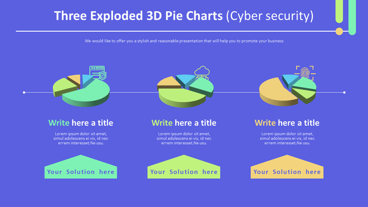 Three Exploded 3D Pie Charts (Cyber security)_01