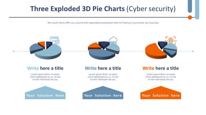 3 개의 분해 된 3D 원형 차트 (사이버 보안)_02