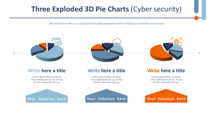Three Exploded 3D Pie Charts (Cyber security)_02