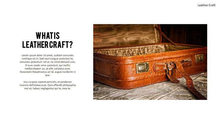What Is The Best Leather Crafting Outline PPT Presentation_02