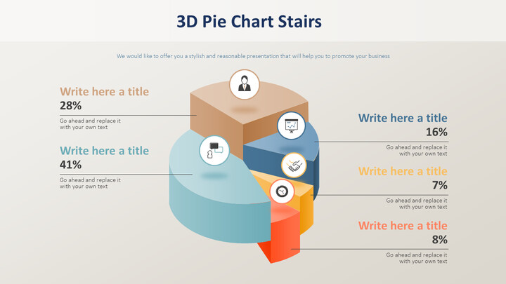 3D Pie Chart Stairs Diagram_02