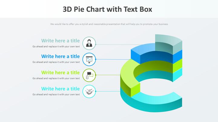3D 원형 차트와 텍스트 상자 다이어그램_01