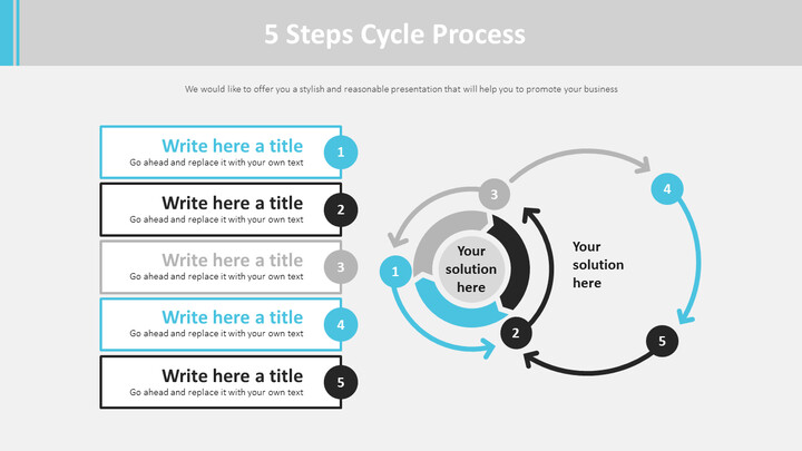 5 Steps Cycle Process Diagram_02