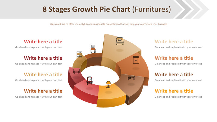 8 Stages Growth Pie Chart Diagram (Furnitures)_01