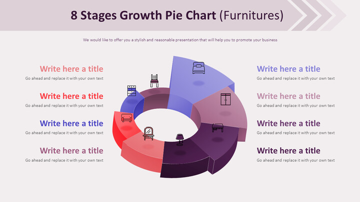 8 Stages Growth Pie Chart Diagram (Furnitures)_02