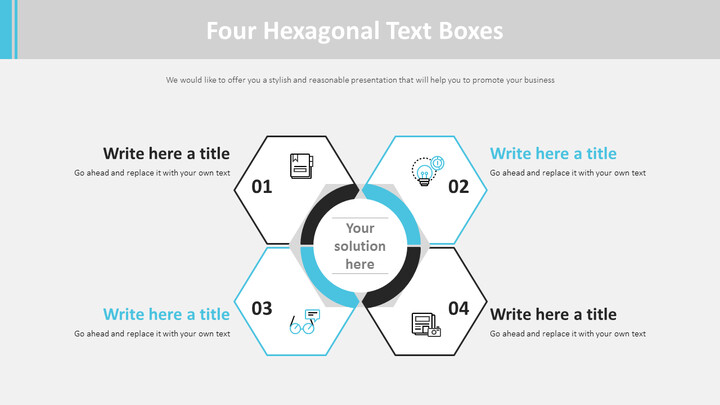 Four Hexagonal Text Boxes Diagram_02