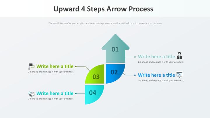 위쪽 4 단계 화살표 프로세스 다이어그램_01