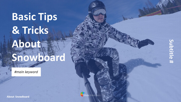Basic Tips & Tricks About Snowboard PPT Design Templates_01