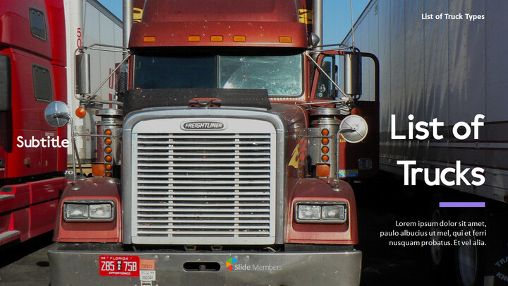 List of Trucks PPT Backgrounds_01