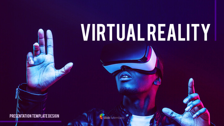 Virtual Reality (VR) Simple PowerPoint Template Design_01
