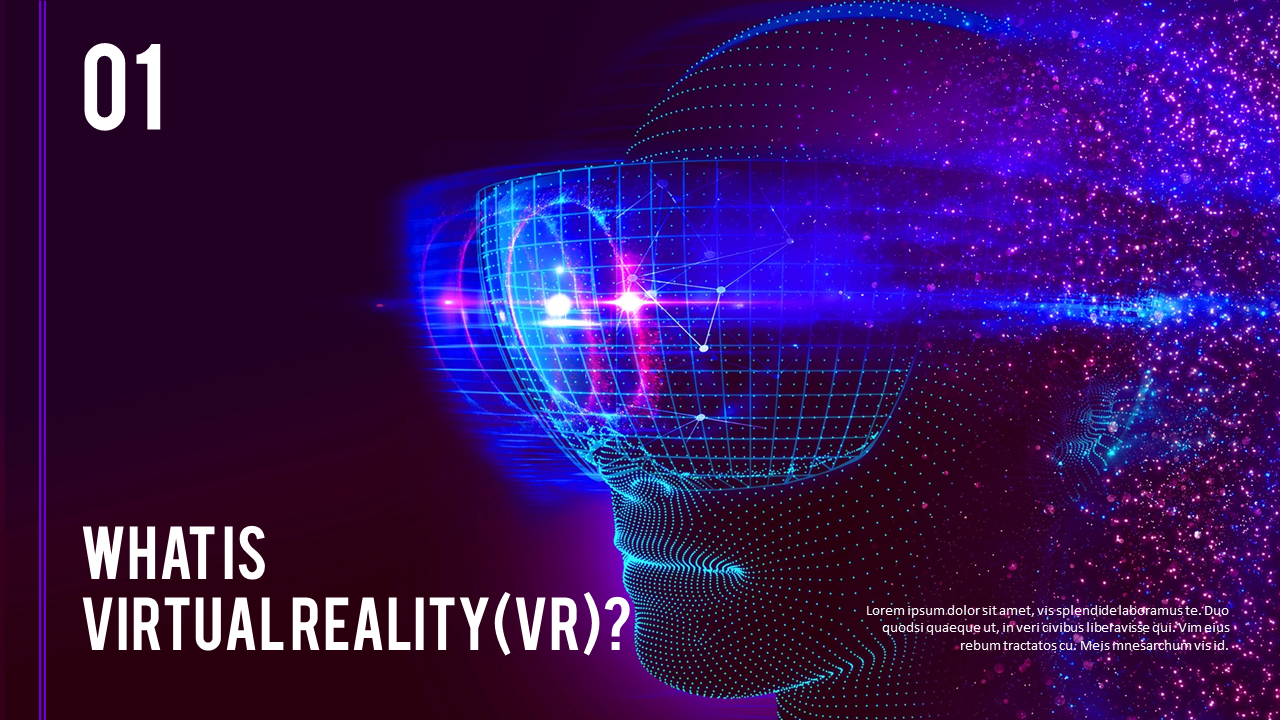 Virtual Reality Vr Simple Powerpoint Template Design
