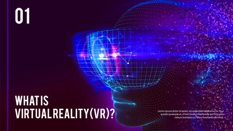 Virtual Reality (VR) Simple PowerPoint Template Design_02