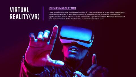 가상 현실 (VR) 심플한 파워포인트 템플릿 디자인_04