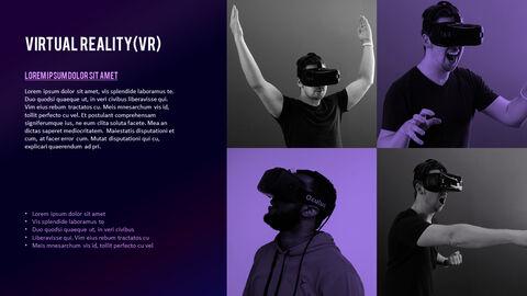 가상 현실 (VR) 심플한 파워포인트 템플릿 디자인_05