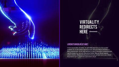 가상 현실 (VR) 심플한 파워포인트 템플릿 디자인_07