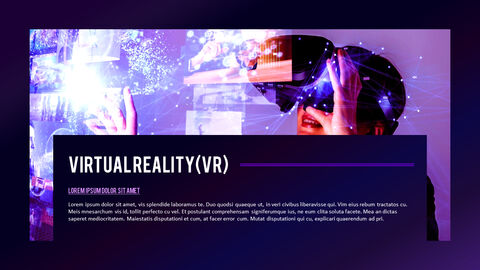 Virtual Reality (VR) Simple PowerPoint Template Design_03