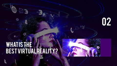 가상 현실 (VR) 심플한 파워포인트 템플릿 디자인_09