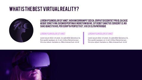가상 현실 (VR) 심플한 파워포인트 템플릿 디자인_10