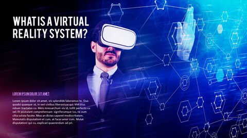 가상 현실 (VR) 심플한 파워포인트 템플릿 디자인_11