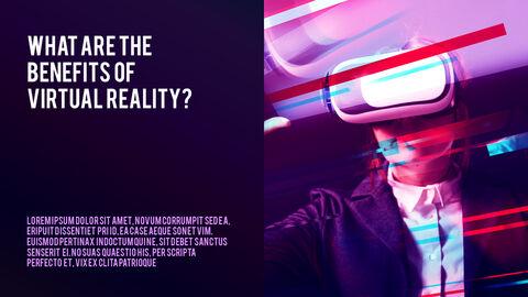 가상 현실 (VR) 심플한 파워포인트 템플릿 디자인_12