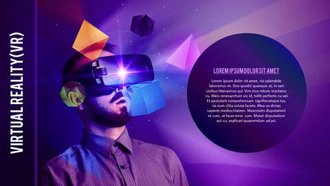 Virtual Reality (VR) Simple PowerPoint Template Design_04