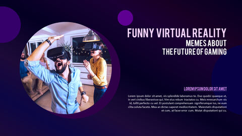 Virtual Reality (VR) Simple PowerPoint Template Design_05