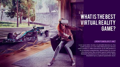가상 현실 (VR) 심플한 파워포인트 템플릿 디자인_15