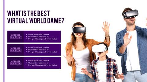 가상 현실 (VR) 심플한 파워포인트 템플릿 디자인_16