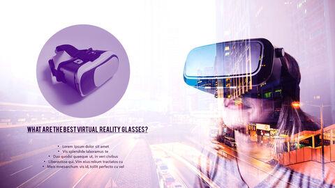 가상 현실 (VR) 심플한 파워포인트 템플릿 디자인_17