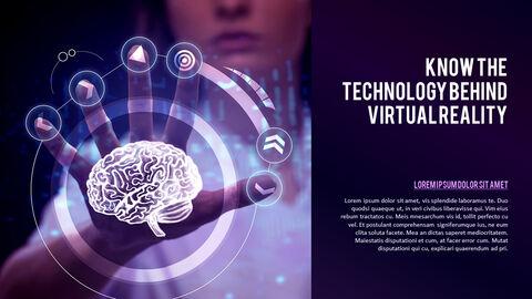 가상 현실 (VR) 심플한 파워포인트 템플릿 디자인_19