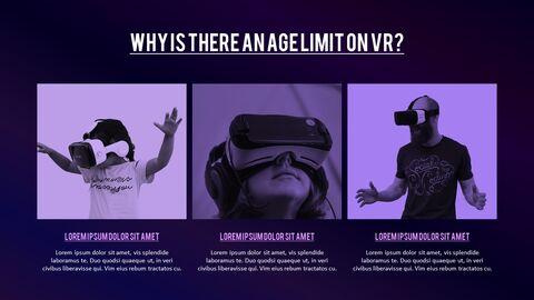 가상 현실 (VR) 심플한 파워포인트 템플릿 디자인_21
